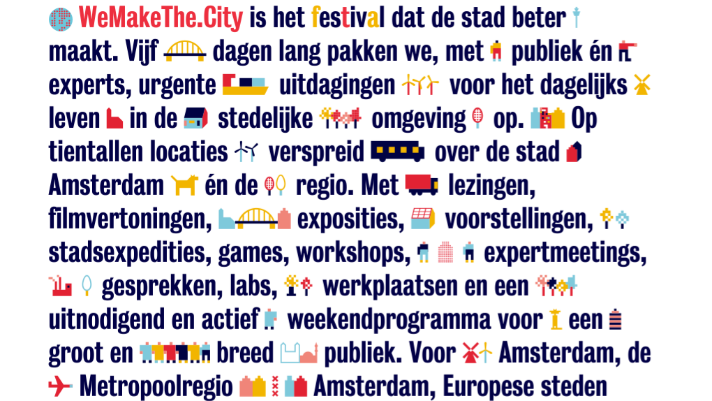Save the date: WeMakeThe.City 2019