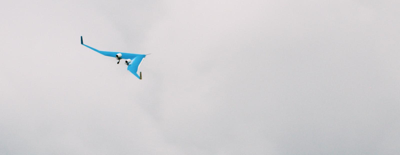 eerste vlucht flying-v